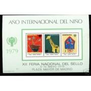 España Spain Hojitas Recuerdo 75 1979 FNMT Año Internacional Niño