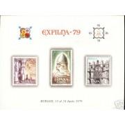 España Spain Hojitas Recuerdo 78 1979 FNMT Exfilna 79 Burgos