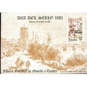 España Spain Hojitas Recuerdo 99 1981 FNMT Exfilna 81 Palencia