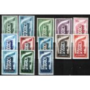 Tema Europa - 1956 - Completo Tema Europa 13 Sellos