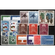 Tema Europa - 1957 - Completo Tema Europa 18 Sellos