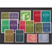 Tema Europa - 1959 Año Completo con PTT 17 Sellos