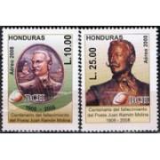 Honduras A  1332/1333 - Personalidades. Literatura- Juan Ramon Molina - ***