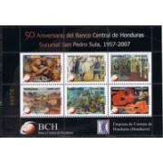 Honduras A  1313/1318 - 100° del Banco de Honduras - ***