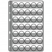 Leuchtturm 329193 hojas de plástico COMPART, para 35 placas de cava / tapas coronas, negro