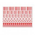 Leuchtturm 357473 Etiquetas de marcado con puntos, círculos y flechas, paquete de 10