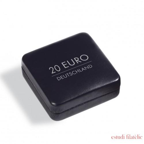 Leuchtturm 358068 Estuche NOBILE para 1 moneda conmemorativa alemana de 20 euros en cápsula, negro