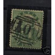 <div><strong>Nevis Nº 11b Año 1866 papel &quot;vergé&quot; certificado<br /> </strong></div>