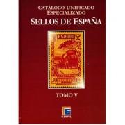 FILATELIA - Biblioteca - Catálogogos España y Colonias - EdCuE1d - CATÁLOGO ESPAÑA ESPECIALIZADO EDIFIL TOMO V