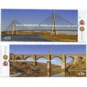 España Spain Emisión Conjunta 2006 Portugal-España Puentes MNH