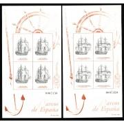 España Spain Hojitas Recuerdo 128/29 1995 FNMT Barcos de España Ship